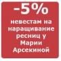 Скидка 5% на наращивание ресниц в день рождения и свадьбы